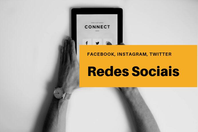 redes sociais facebook instagram twitter gestão de redes sociais